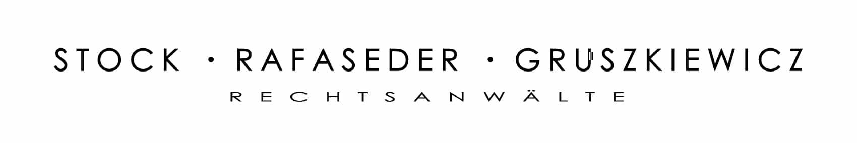 Stock Rafaseder Gruszkiewicz Rechtsanwälte Logo