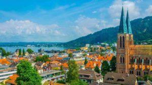 Blick über Stadt Bregenz
