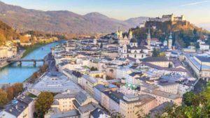 Blick über Salzburger Stadt